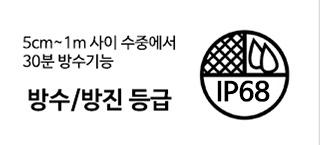 방수/방진 등급 IP67